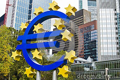 Euro Sign Editorial Image