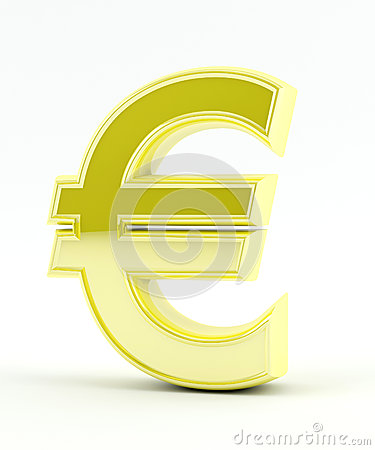 Euro sign in Gold