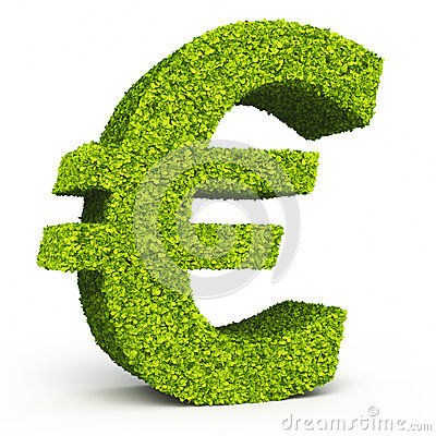 Euro sign leaf formation