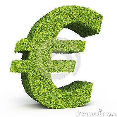Euro sign leaf formation