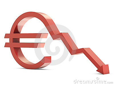 Euro sign with line down