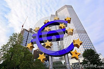 Euro Central Bank Editorial Photography