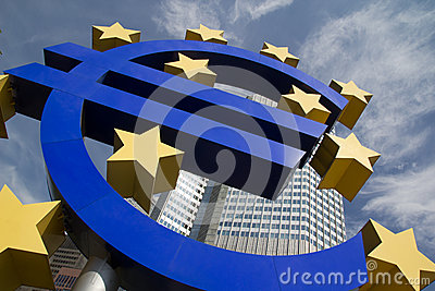Euro signe Photographie éditorial
