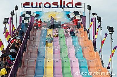 Euro Slide Ride Editorial Image