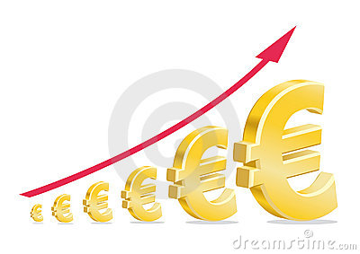 Euro Stock Investment Golden Symbol