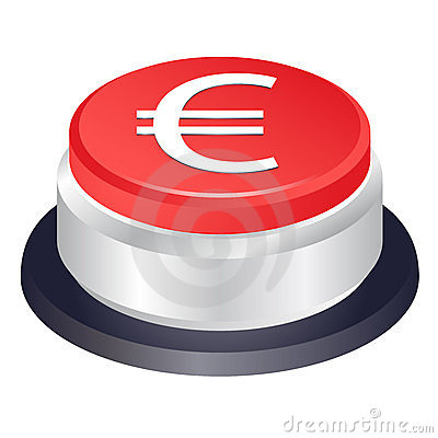 Euro stop vector button