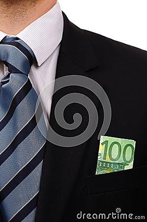 Euro in suit.