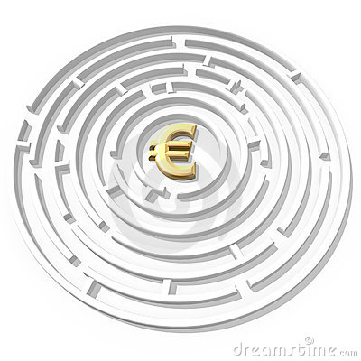 Free Euro Symbol Maze Royalty Free Stock Images - 2564049