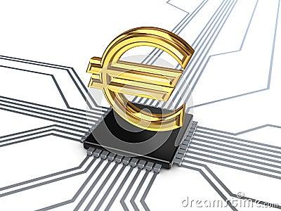 Euro symbol on processor.
