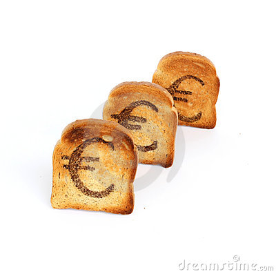 Euro toast in a row