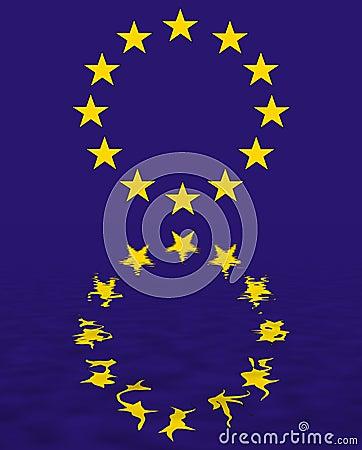 Free Euro Union Flag Reflection Royalty Free Stock Image - 1496326