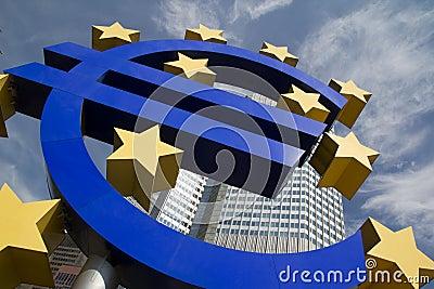 Euro Znak Fotografia Editorial