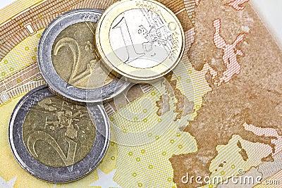 Euro zone coins