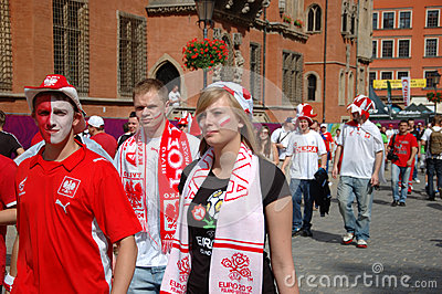 Euro2012 - football fans Editorial Stock Image