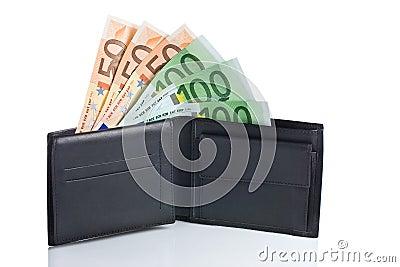 Geld in einer Geldbörse
