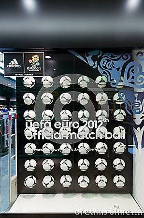 Eurocup 2012 poland ukraine tango official ball Editorial Stock Photo