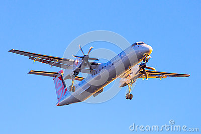 Eurolot aircraft landing on the airport Editorial Stock Image
