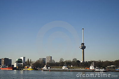 Euromast Rotterdam Editorial Stock Photo