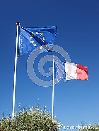 Europäische und französische Fahnen II