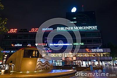Europa-Center is a building complex on the Breitscheidplatz Editorial Photography