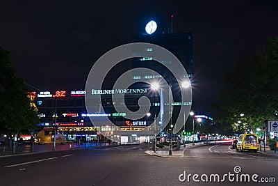 Europa-Center is a building complex on the Breitscheidplatz Editorial Image