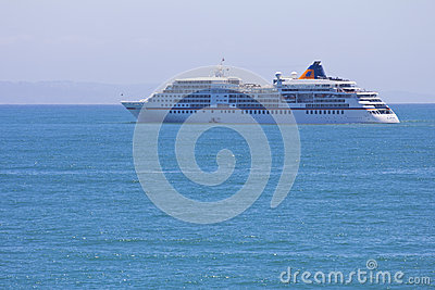 Europa cruise liner in Mossel Bay Editorial Image