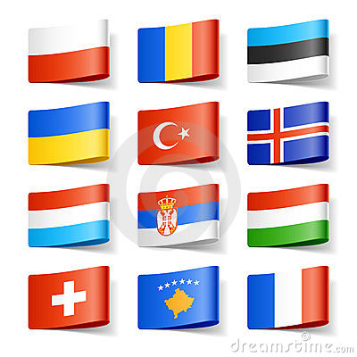 Europa flags världen