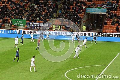 Europa League Inter vs Neftchi Baku 2-2 Editorial Stock Image