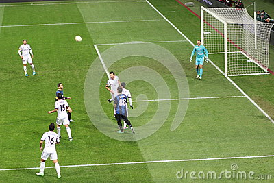 Europa League Inter vs Neftchi Baku 2-2 Editorial Stock Image