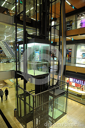 Europa Passage - elevators in shopping center Editorial Photo