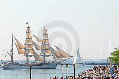 Europa Sails past spectators Editorial Photography
