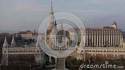 Europa Ungarn Budapest Matthias Kirche Fischerei-Bastion stock footage