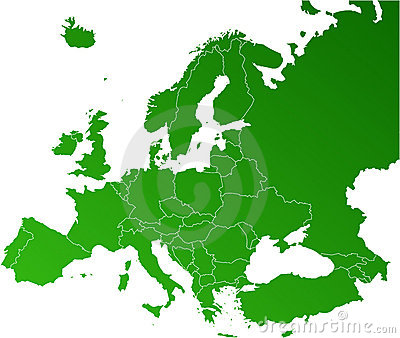 Europa-vektorkarte