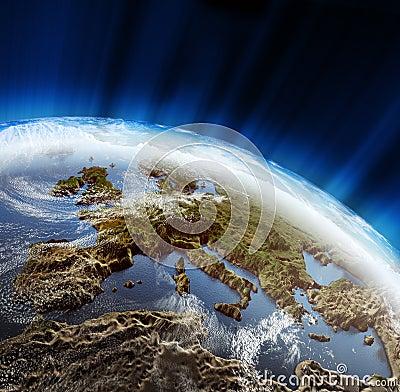 Europe 3d landscape