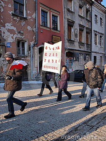 Europe against ACTA, Lublin, Poland Editorial Image