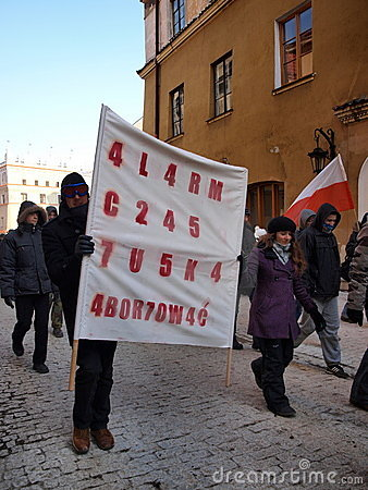 Europe against ACTA, Lublin, Poland Editorial Stock Photo