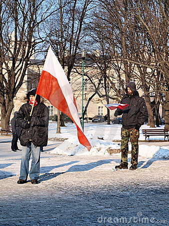 Europe against ACTA, Lublin, Poland Editorial Stock Image