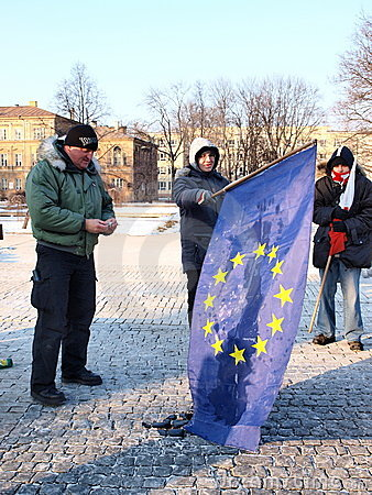 Europe against ACTA, Lublin, Poland Editorial Photography