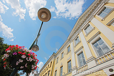 Europe building and street lamp