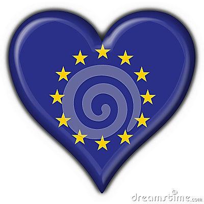 Free Europe Button Flag Heart Shape Royalty Free Stock Photo - 4839505