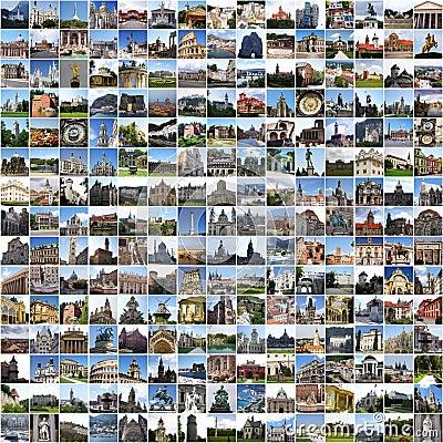 Free Europe Collage Stock Photos - 13542033