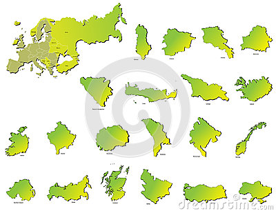 Europe countries maps