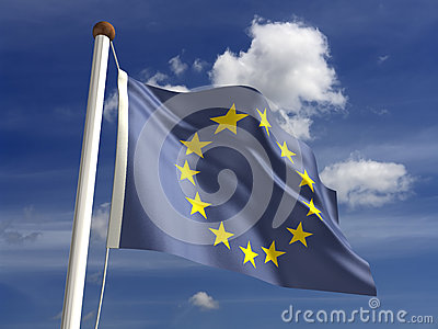 Europe flag (with clipping path)