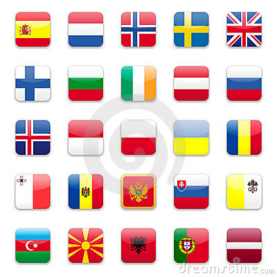 Europe flags b