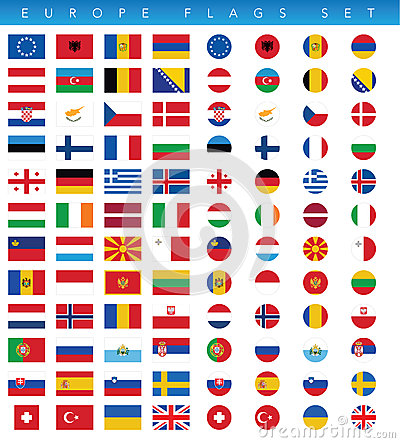 Free Europe Flags Set Stock Photo - 54303330