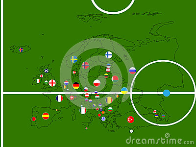 Europe Football Map Circles