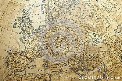 Europe kuli ziemskiej mapa