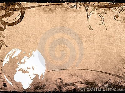Europe map-vintage artwork