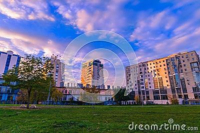 sunset in central park, Brasov (Kronstadt)