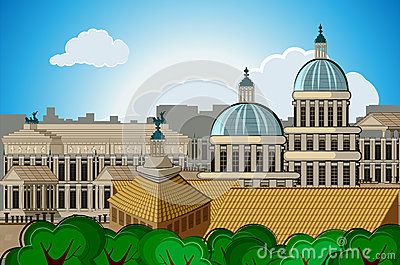 europe skyline city capital Rome background